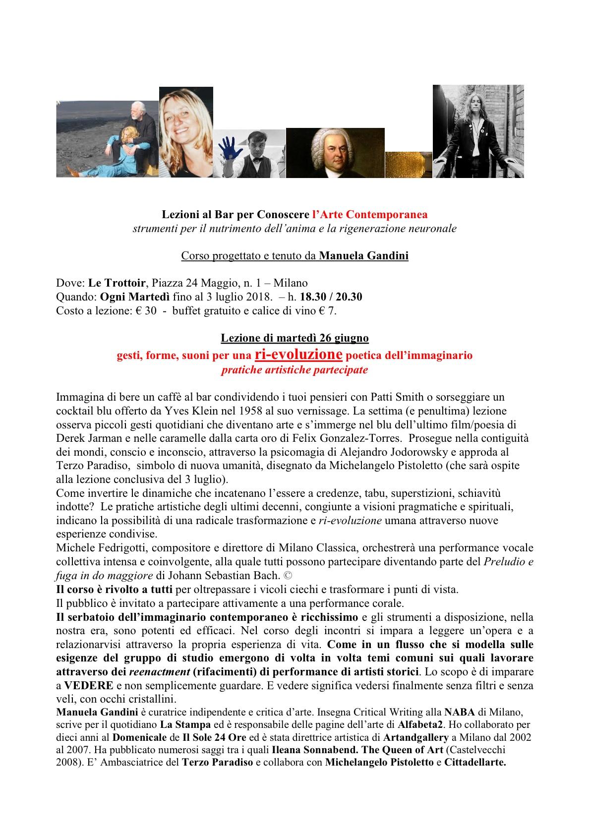 """... Wohltemperierteklavier di J.S. Bach ad un incontro tenuto presso Le  Trottoir a Milano da Manuela Gandini, all interno di una serie di  """"incontri-lezione"""" ... e04112e6ae"""